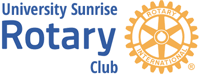 University Sunrise Rotary Club Logo
